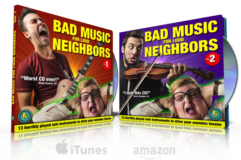 Bad Music for Loud Neighbors CD set on iTunes and Amazon